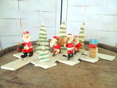Unusual PRIMITIVE Folk Art Christmas Display by OurVintageHouse on Etsy