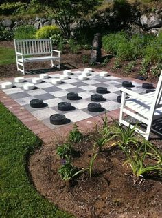Outdoor checkers.