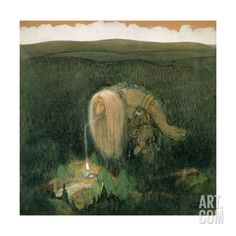 A Forest Troll by John Bauer - so Swedish