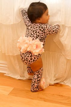 Pink Leopard Princess Flower One Piece