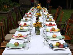 harvest dinner tablescape via @Aimee | Simple Bites