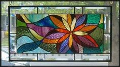 Shooting Star Stained Glass Window Panel Signed and Dated | eBay