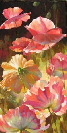 1000 images about oil painting ideas on pinterest bob for Painting large flowers in acrylic