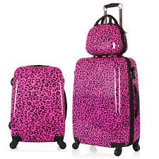 maletas de viaje femeninas - pink leopard  in NEED in DEED of some new spiner luggage.. MM whoo wins !?