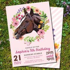 Horse Party Invitation Birthday