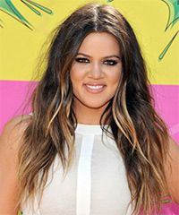 Khloe Kardashian Hairstyle: Casual Long Straight Hairstyle