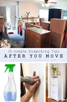 Check out these helpful 10 Simple Unpacking Tips for After a Big Move! Delineate Your Dwelling Moving House Tips, Moving Home, Moving Tips, Moving Hacks, Unpacking After Moving, Unpacking Tips, Organizing For A Move, Organizing Life, New Home Checklist