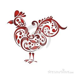 Illustration about Rooster with Decorative floral ornament, suitable for textile and tattoo design and other use. Illustration of cockerel, antique, artistic - 76738610 Pencil Art Drawings, Doodle Drawings, Doodle Art, Cute Drawings, Rooster Tattoo, Rooster Art, Chicken Images, Chicken Art, Chicken Tattoo