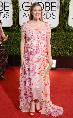 Drew Barrymore from 2014 Golden Globes. Being pregnant is not an excuse for bad taste. See Olivia Wilde's Gucci dress, Drew.