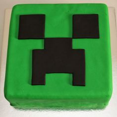 "Minecraft ""creeper"" cake :)"