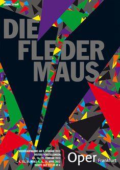 Poster de Rene Wanner Página / posters da Gunter Rambow para a ópera Frankfurt 2012/13