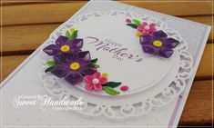 In the middle of the winter ...I dream about summer and flowers Flower Quilling Cards 1 mm paper stripes