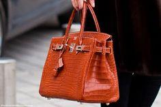 Orange Berkin Bag - at that price point might want black...