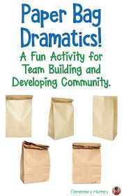 Paper Bag Dramatics: A fun activity for Team Building and Developing Community. Here's an idea that can be used just about anywhere at any time. It encourages groups to solve problems, think creatively, and work as a team. Group Activities For Adults, Team Building Activities For Adults, Teamwork Activities, Drama Activities, Icebreaker Activities, Icebreakers, Fun Team Building Games, Group Games, Fun Activities At Work