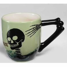 Perefct for Halloween! A Skeleton Coffee Mug #Cubico #coffeecups