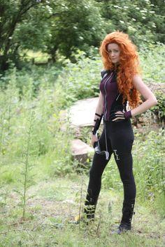 Brave's Merida cosplay mashup with Hawkeye