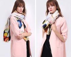 Ručne tkaný šál z kašmíru s luxusným farebným vzorom0