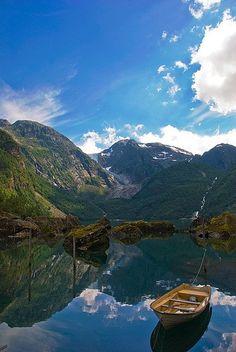 Bondhus Lake in Kvinnherad, Norway