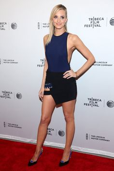 Pin for Later: Michelle Williams's Dress Is Just One of Her Job's Many Perks Katie Nehra Katie Nehra at the Tribeca Film Festival premiere of Alex Of Venice.