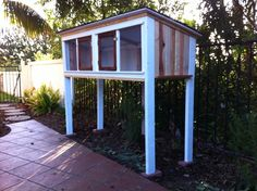 How to Build Quail Pens | Here is how it looks next to our chicken coop. I think they compliment ...