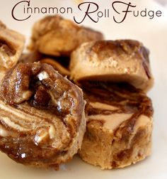 Cinnamon Roll Fudge - I see fudge as a beautiful, sweet blank canvas just waiting to be brought to life!  And when I think about ways to bring something to life, Cinnamon Rolls are usually the first thing that comes to mind..well, and coffee of course..lol!
