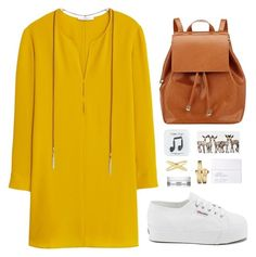 """Long Sleeve Dress"" by terpsichoree ❤ liked on Polyvore featuring MANGO, Superga, J.Crew, Barneys New York, Eva Fehren, Movado, NARS Cosmetics and Kiehl's"