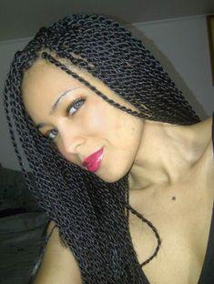 Rope Twist Braids Hairstyles