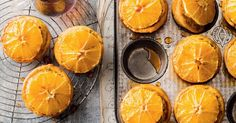 Polenta citrus cakes are ever so versatile. With extra virgin olive oil in place of butter these individual cakes are incredibly light and moist. Orange Polenta Cake, Papaya Juice, Muffin Pan Recipes, Citrus Cake, Muffins, Polenta Cakes, Individual Cakes, Best Smoothie Recipes, Cooking Cake