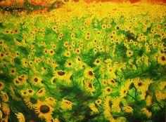 sunflowers by sandrutowiec on DeviantArt Deviantart, Painting, Painting Art, Paintings, Painted Canvas, Drawings