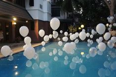 New Eve Ornament 115 Easy Lovely Turning Concepts Pool Wedding Decorations, Birthday Party Decorations, Baby Shower Decorations, Floating Pool Decorations, Floating Pool Lights, Decoration Cocktail, Wedding Balloons, Wedding Reception, Bridal Shower
