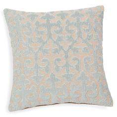 Fodera di cuscino in cotone blu 40 x 40 cm HÉLÈNE