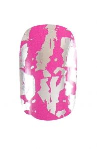 Pink and Silver Nail Wraps | Hollywood Nail Design £5.50 for a pack of 15.