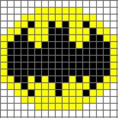 Free graph patterns for crocheting | Free Crochet Pattern Bat (Batman) Logo Chart - Crocheting Patterns ...: