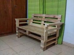 Build a Recycled Pallet Sofa / Bench | 99 Pallets