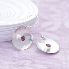 Amethyst Earrings, Sterling Silver Earrings, Pink Topaz, Pink Gemstones, Amethyst Bracelet, Affordable Jewelry, Topaz Gemstone, Handmade Jewellery, Round Earrings