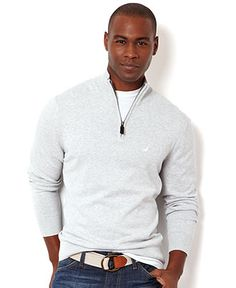 Nautica Sweater, Quarter Zip Pullover Sweater - Mens Nautica Sweaters - Macy's