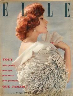 Couverture de Elle n°436 du 19 avril 1954 - Echarpe d'Hubert de Givenchy - photo…