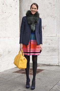 Accessorize With A Fur Stole - Clever Ways to Wear Blazers That You Haven't Thought Of  - Photos