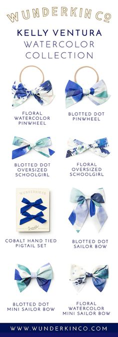 Click to shop hand crafted hair bows by Wunderkin Co. Classic accessories for your baby, toddler or little girl and her free spirited style. Handmade in the USA and guaranteed for life. Made in collaboration with fine artist, Kelly Ventura