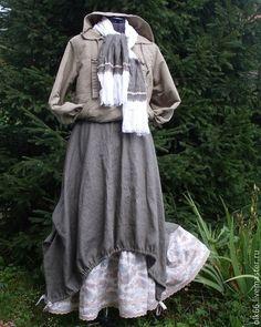 льняная длинная юбка бохо boho style lagenlook