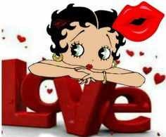 Love and Kisses! from #bettyboop #illustration ✿⊱╮