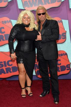 """Duane """"Dog"""" Chapman and Beth Chapman Beth The Bounty Hunter, Celebrity Couples, Celebrity Style, Hunter Dog, Heartland Tv Show, Cmt Music Awards, Reality Tv Shows, Keith Urban, Sexy Older Women"""