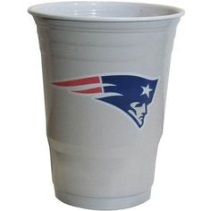NFL Football Game Day Plastic Cups 18CT Sleeve New England Patriots