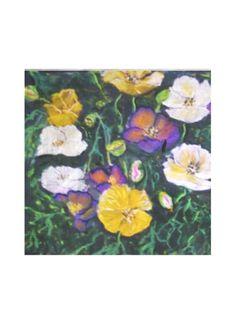 Silk Square Scarf - Poppy field by VIDA VIDA giLa9