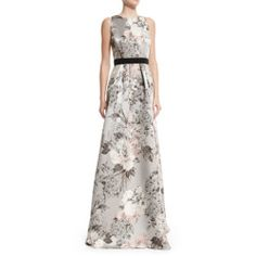 02a06e7c2d1 Sleeveless Floral-Print Gown by Carmen Marc Valvo at Neiman Marcus.