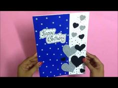 welcome to Handmade cards ideas channel. In this video, you will learn how to make a beautiful handmade birthday greeting card idea. This simple creative bir. Creative Birthday Cards, Handmade Birthday Cards, Birthday Greeting Cards, Diy Birthday, Birthday Greetings, Greeting Cards Handmade, Birthday Decorations At Home, Happy Birthday Boyfriend, Cards Diy