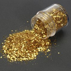 [US$6.59] Champagne Gold Mixed Glitter Powder Sequins Shining Dust Nail Art Decoration Eye Shadow Ornament #champagne #gold #mixed #glitter #powder #sequins #shining #dust #nail #decoration #shadow #ornament