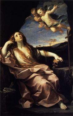 Guido Reni. Santa María Magdalena, 1632. óleo sobre lienzo. Chiswick House. WikiPaintings.org