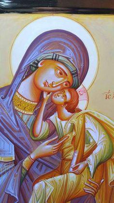 Byzantine Icons, Art Icon, Orthodox Icons, Religious Art, Virgin Mary, Madonna, Catholic, Disney Characters, Fictional Characters