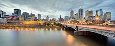 Melbourne City Blue Hour Panorama by mark burban on 500px